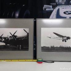 Postales: LUFTHANSA DOS LÁMINAS ENMARCADAS JUNKERS G.38E Y MESSERSCHMITT M-20. Lote 221584446