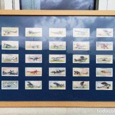 Postales: 25 CROMOS DE TABACO PLAYER & SONS ENMARCADOS AEROPLANES (CIVIL) Y II. Lote 221587015