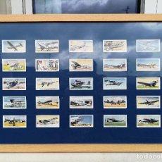 Postales: 25 CROMOS DE TABACO PLAYER & SONS ENMARCADOS INTERNATIONAL AIR LINERS I. Lote 221588305