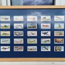 Postales: 25 CROMOS DE TABACO PLAYER & SONS ENMARCADOS INTERNATIONAL AIR LINERS Y II. Lote 221588501