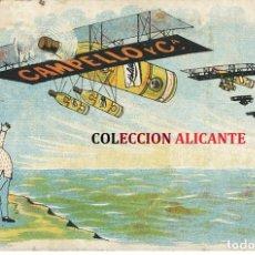 Postales: CUBA ESPAÑA - VUELO TRAVESIA POSTAL PUBLICITARIA CAMPELLO Y CIA. PILOTO AGUSTIN PARLA 1920. Lote 222532936
