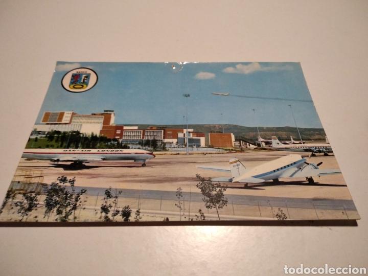 POSTAL AEROPUERTO BARAJAS MADRID AVIONES (Postales - Postales Temáticas - Aeroplanos, Zeppelines y Globos)
