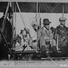 Cartoline: FRANCIA. PAU. EL REY ALFONSO XIII SUBIDO AL AEROPLANO DE LOS HNOS WRIGHT 1909 ED.SD PHOT. FRANCESA. Lote 224995610