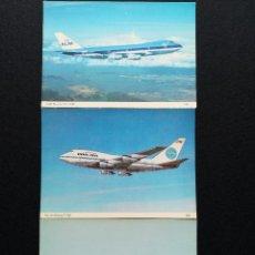 Postales: POSTALES LOTE DE 3 POSTALES 747-200 KLM 747SP PANAM VISCOUNT BRITISH MIDLAND LOTE Nº 4. Lote 225154017