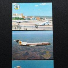 Postales: POSTALES LOTE DE 3 DC-9 IBERIA B-727 IBERIA BARAJAS (DANAIR, TRANSEUROPA, SPANTAX) Nº 67. Lote 225554140