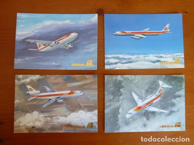 LOTE ANTIGUAS POSTALES IBERIA. NUEVAS (Postales - Postales Temáticas - Aeroplanos, Zeppelines y Globos)