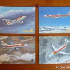 Postales: LOTE ANTIGUAS POSTALES IBERIA. NUEVAS. Lote 229623255
