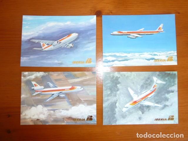 Postales: Lote antiguas postales Iberia. Nuevas - Foto 2 - 229623255