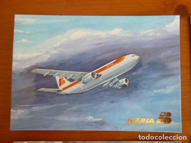 Postales: Lote antiguas postales Iberia. Nuevas - Foto 3 - 229623255