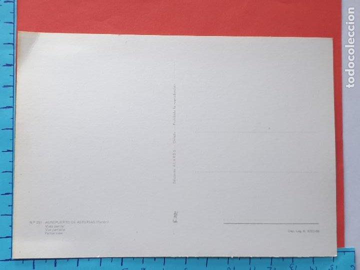 Postales: AEROPUERTO DE ASTURIAS ( COCHES Y MOTOS DE LA EPOCA ) -- NO CIRCULADA - // ( NOV2020CONF) - Foto 3 - 229653060