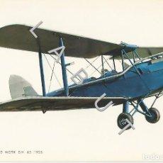 Postales: DE HAVILLAND MOTH DH 60 1925 HISTOIRIA DE LA AVIACION POSTAL C43. Lote 234932615