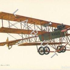 Postales: AVRO TRIPLANE ROE 4 1910 HISTOIRIA DE LA AVIACION POSTAL C43. Lote 234932900