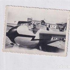 Postales: CURIOSA FOTOGRAFÍA DE 9 X 6,50 CM AVIONETA FOTÓGRAFO PLANA HUESCA.. Lote 235918785