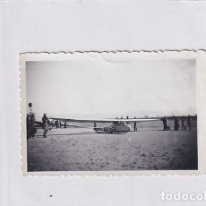 Postales: CURIOSA FOTOGRAFÍA DE 9 X 6,50 CM AVIONETA FOTÓGRAFO PLANA HUESCA.. Lote 235919080