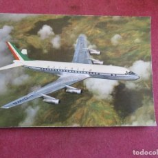 Postales: ALITALIA AIRLINES - DOUGLAS SUPER DC8 JET. Lote 236222570