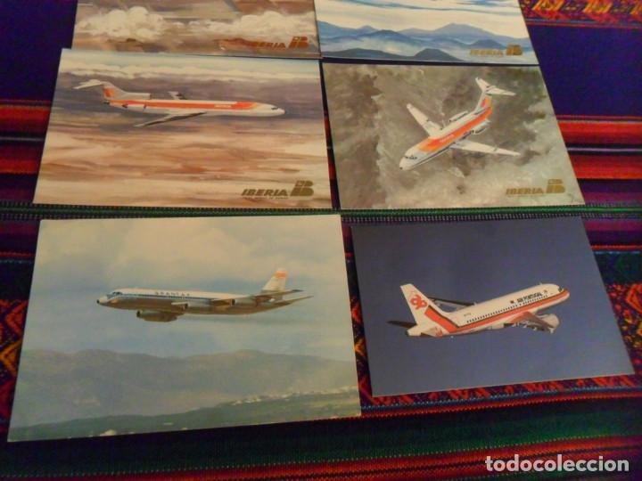 Postales: 7 POSTAL AVIÓN AIR PORTUGAL, BINTER CASA, SPANTAX CV 990, IBERIA BOEING 727 747 DOUGLAS DC-9 DC-10 - Foto 2 - 236941760