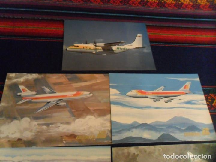 Postales: 7 POSTAL AVIÓN AIR PORTUGAL, BINTER CASA, SPANTAX CV 990, IBERIA BOEING 727 747 DOUGLAS DC-9 DC-10 - Foto 3 - 236941760