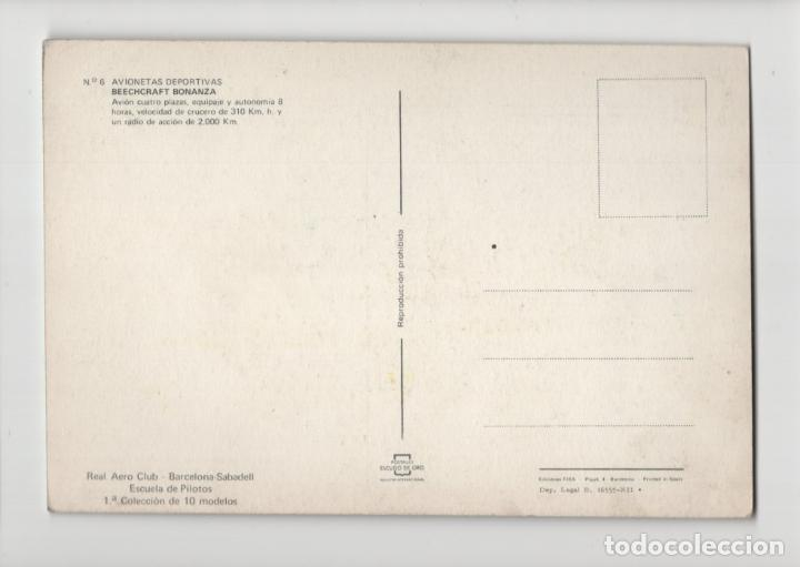 Postales: Nº 6 Avionetas Deportivas · Beechcraft Bonanza -Escudo de Oro- - Foto 2 - 237132145