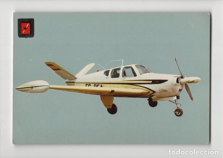 Nº 6 AVIONETAS DEPORTIVAS · BEECHCRAFT BONANZA -ESCUDO DE ORO- (Postales - Postales Temáticas - Aeroplanos, Zeppelines y Globos)