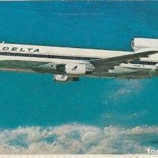 Postales: FOTO POSTAL DELTA AIR LINES L00KHEED L-1011 TRISTAR. Lote 240049250