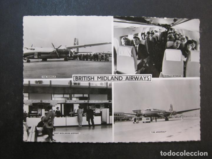 Postales: AVION-BRITISH MIDLAND AIRWAYS-TARJETA ANTIGUA-VER FOTOS-(77.630) - Foto 1 - 243451810
