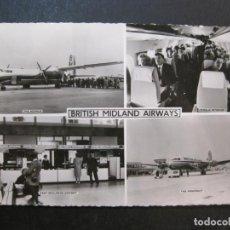 Cartoline: AVION-BRITISH MIDLAND AIRWAYS-TARJETA ANTIGUA-VER FOTOS-(77.630). Lote 243451810