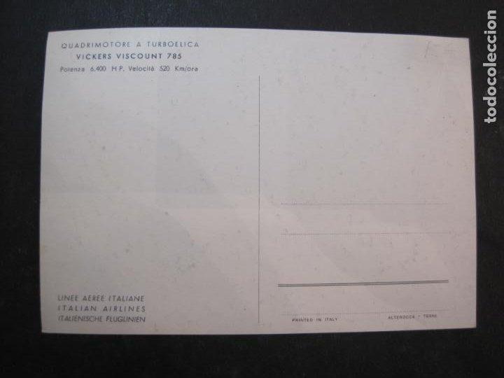 Postales: AVION-QUADRIMOTORE A TURBOELICA-VICKERS VISCOUNT 785-POSTAL ANTIGUA-VER FOTOS-(77.631) - Foto 3 - 243452475