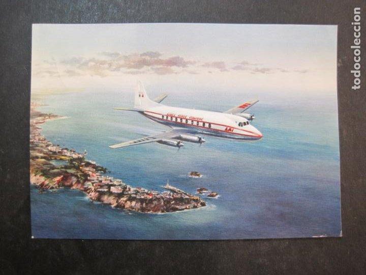 AVION-QUADRIMOTORE A TURBOELICA-VICKERS VISCOUNT 785-POSTAL ANTIGUA-VER FOTOS-(77.631) (Postales - Postales Temáticas - Aeroplanos, Zeppelines y Globos)