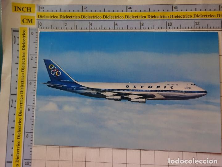 POSTAL DE AVIONES AEROLÍNEAS. OLYMPIC AIRWAYS GRECIA BOEING 747 - 200. 3363 (Postales - Postales Temáticas - Aeroplanos, Zeppelines y Globos)