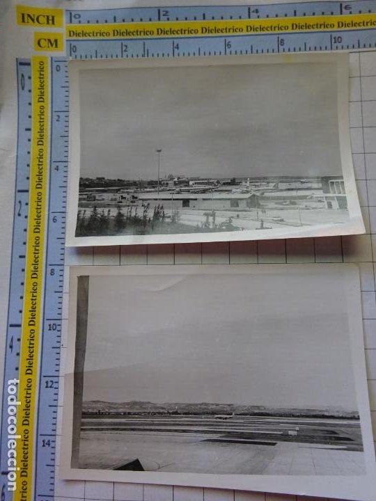 2 FOTOS FOTOGRAFÍAS. AÑOS 50 60. AEROPUERTO DE MADRID BARAJAS?. 3368 (Postales - Postales Temáticas - Aeroplanos, Zeppelines y Globos)
