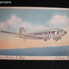 Postales: AVION-EASTERN SILVERLINER IN FLIGHT-LA GUARDIA FIELD-POSTAL ANTIGUA-(77.790). Lote 244433295