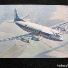 Postales: AIR FRANCE VICKERS VISCOUNT-AVION-POSTAL ANTIGUA-(77.881). Lote 245182550