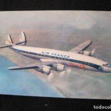 Postales: AIR FRANCE-LOCKHEED SUPER G CONSTELLATION-AVION-POSTAL ANTIGUA-(77.882). Lote 245182810
