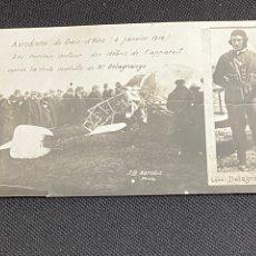 Postales: MUERTE DE LÉON DELAGRANGE. 4 DE ENERO DE 1910.AERODROMO DE CROIX D´HINS. FOTO J.B. NARDOT.. Lote 245263010