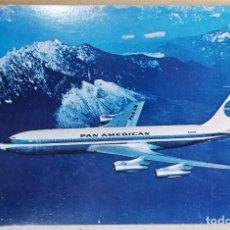 Postales: TARJETA POSTAL ANTIGUA POSTALES PUBLICIDAD AVION PANAM PAN AMERICAN 707. Lote 245306585