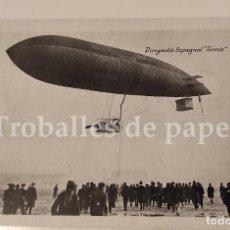 Postales: POSTAL DEL DIRIGIBLE ESPAÑOL ASTRA TORRES QUEVEDO HISTORIA AVIACIÓN ZEPPELIN. Lote 247136850