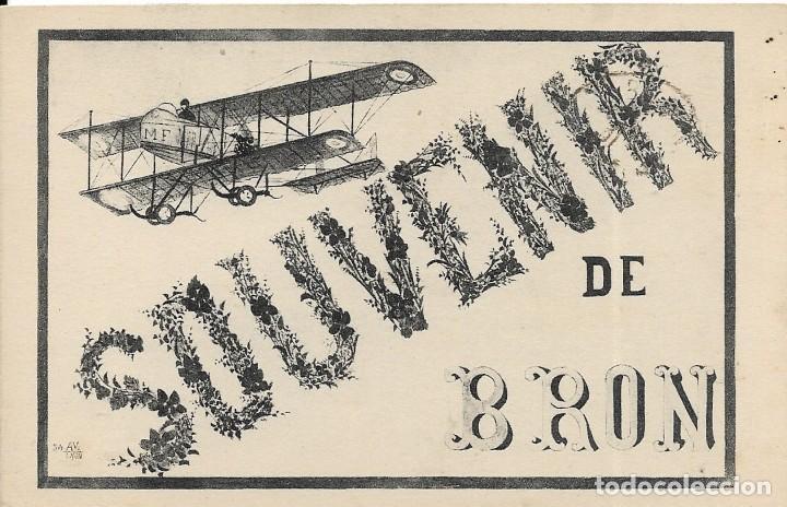 POSTAL SOUVENIR DE AVIACIÓN ANTIGUA (Postales - Postales Temáticas - Aeroplanos, Zeppelines y Globos)