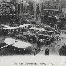 Postales: POSTAL DEL 1R SALON DE LA AERONÁUTICA EN PARIS DE 1908. Lote 251171090