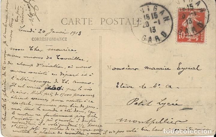 Postales: Postal nos aviateurs. Laviateur Ch. Amans sur Biplan H. Forman - Foto 2 - 251171885