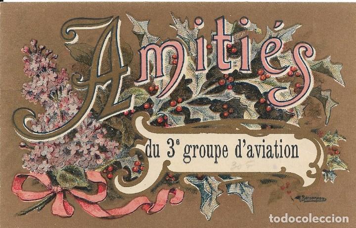 POSTAL AMITIÉS DU 3ª GROUPE D'AVIATION (Postales - Postales Temáticas - Aeroplanos, Zeppelines y Globos)