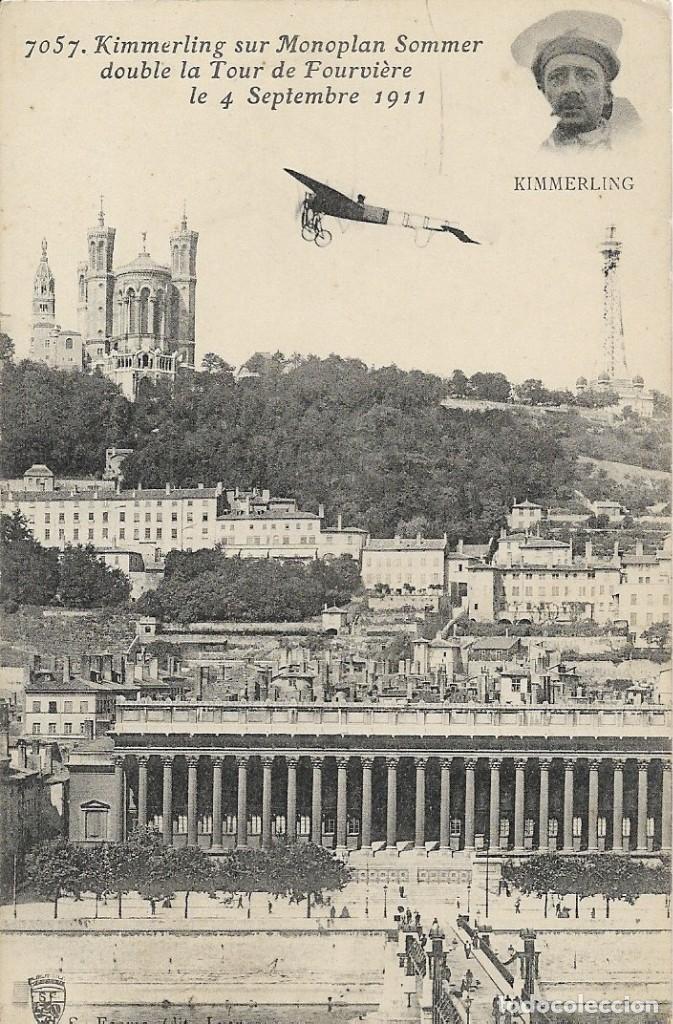POSTAL DE KIMMERLING SUR MONOPLAN SOMMER, 1911 (Postales - Postales Temáticas - Aeroplanos, Zeppelines y Globos)