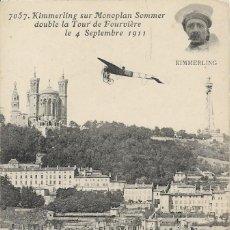 Postales: POSTAL DE KIMMERLING SUR MONOPLAN SOMMER, 1911. Lote 251173425