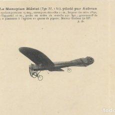 Postales: POSTAL LE MONOPLAN BLÉVIOT, PILOTÉ PAR AUBRUN. Lote 251175635