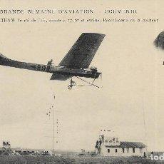 Postales: POSTAL DE LA GRANDE SEMAINE D'AVIATION. AVIADOR LATHAM. Lote 251176530