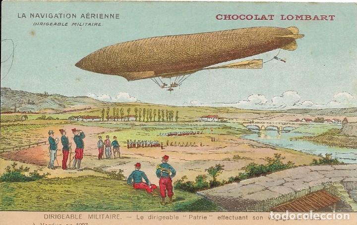 POSTAL DE CHOCOLATES LOMBART. ZEPELEIN. LA NAVIGATION AÉRIENNE (Postales - Postales Temáticas - Aeroplanos, Zeppelines y Globos)