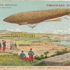 Postales: POSTAL DE CHOCOLATES LOMBART. ZEPELEIN. LA NAVIGATION AÉRIENNE. Lote 251177225