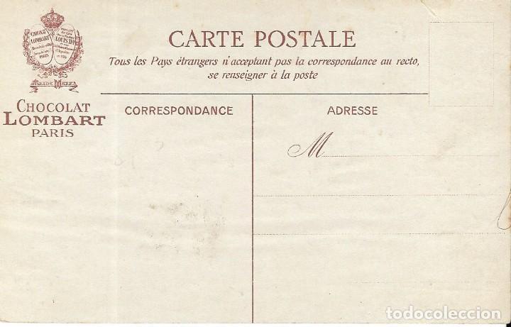 Postales: Postal de chocolates LOMBART. Zepelein. La navigation aérienne - Foto 2 - 251177225