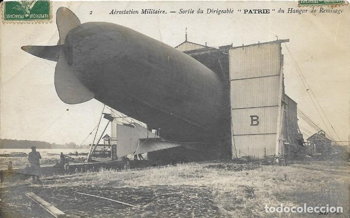 POSTAL DE LA AEROESTACIÓN ZEPELIN MILITAR (Postales - Postales Temáticas - Aeroplanos, Zeppelines y Globos)