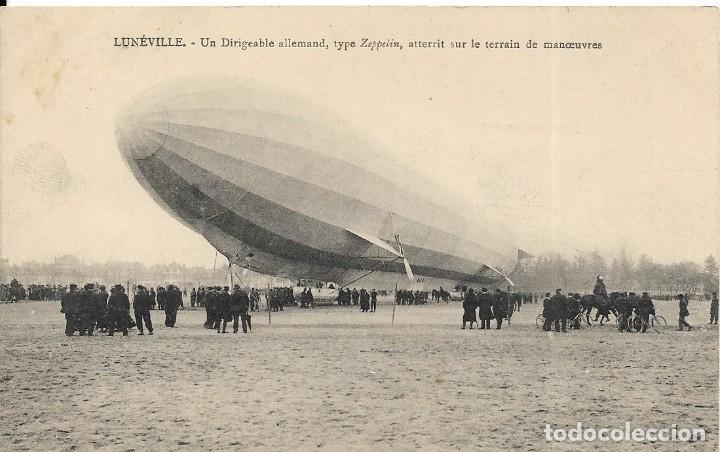 """POSTAL DEL DIRIGIBLE """"LUNEVILLE"""", ZEPELIN ALEMÁN TIPO ZEPELIN (Postales - Postales Temáticas - Aeroplanos, Zeppelines y Globos)"""