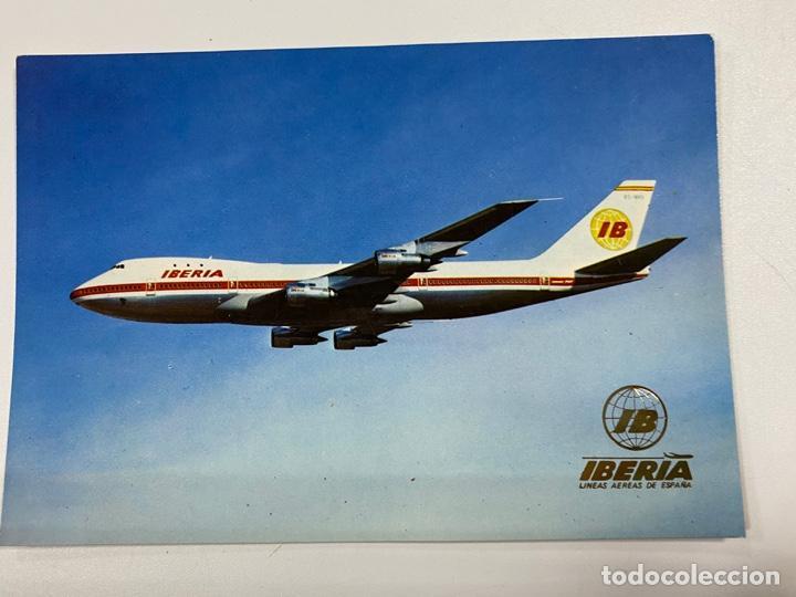 TARJETA POSTAL. BOEING-747. JUMBO. IBERIA. POSTALES ESCUDO DE ORO (Postales - Postales Temáticas - Aeroplanos, Zeppelines y Globos)
